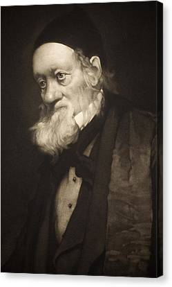 1889 Sir Richard Owen Portrait Old Age Cu Canvas Print by Paul D Stewart
