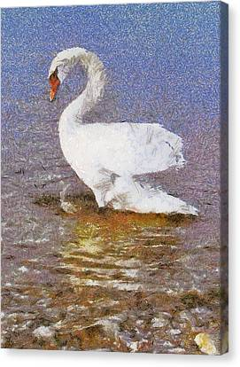 Swan Canvas Print by Odon Czintos