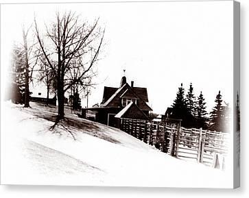 1900 Farm Home Canvas Print by Marcin and Dawid Witukiewicz