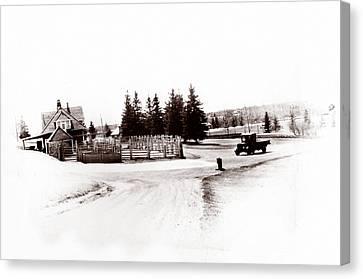 1900 Farm Canvas Print by Marcin and Dawid Witukiewicz