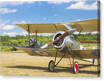 1916 Sopwith Pup Biplane On Airfield Canvas Photo Poster Print Canvas Print by Keith Webber Jr