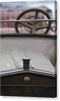 1916 Winton Model 33 Touring Hood Ornament Canvas Print by Jill Reger