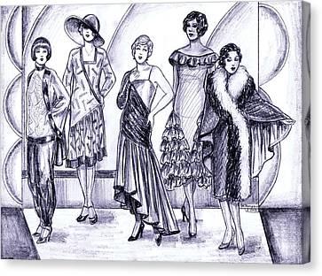 1920s British Fashions Canvas Print