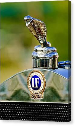 1924 Isotta-fraschini Tipo 8 Torpedo Phaeton Hood Ornament Canvas Print by Jill Reger