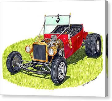 1925 T Bucket Canvas Print by Jack Pumphrey