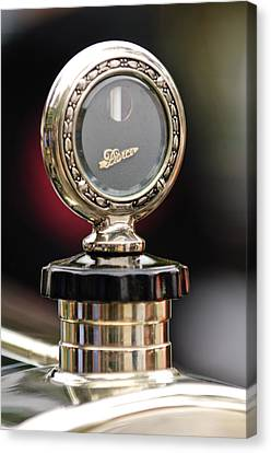 1927 Pierce-arrow Limousine Motometer Hood Ornament Canvas Print by Jill Reger