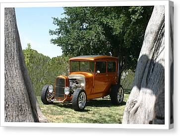 1929 Ford Butter Scorch Orange Canvas Print by Jack Pumphrey