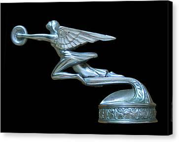 1929 Packard Goddess Of Speed Canvas Print by Jack Pumphrey