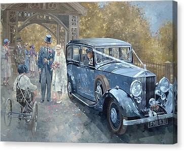 1930s Country Wedding  Canvas Print by Peter Miller