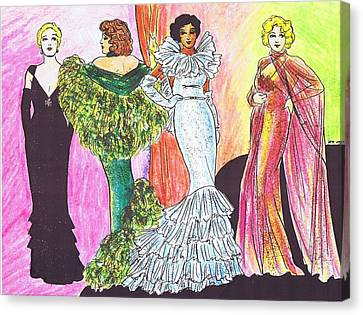 1930s Gowns Canvas Print
