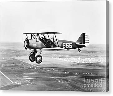 1930s Pilot Training Canvas Print by Omikron