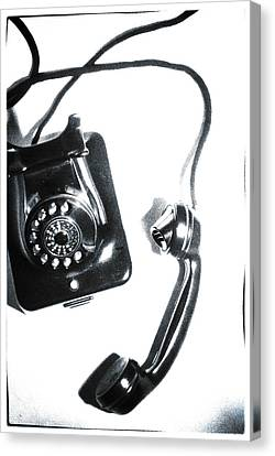 1930s Telephone Canvas Print by David Ridley