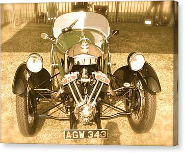 Canvas Print featuring the photograph 1930s Three Wheel Morgan by John Colley