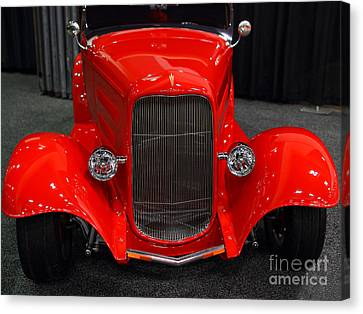 1932 Ford Roadster . Red . 7d9286 Canvas Print by Wingsdomain Art and Photography