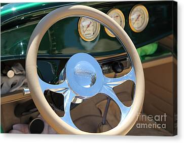 1932 Ford Roadster Steering Wheel And Guages . 5d16176 Canvas Print by Wingsdomain Art and Photography