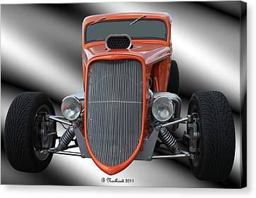 1933 Ford Roadster - Hotrod Version Of Scream Canvas Print by Betty Northcutt