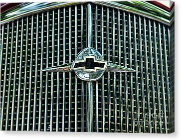1934 Chevrolet Grill  Canvas Print by Paul Ward