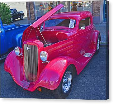 Canvas Print featuring the photograph 1934 Chevy Coupe by Tikvah's Hope