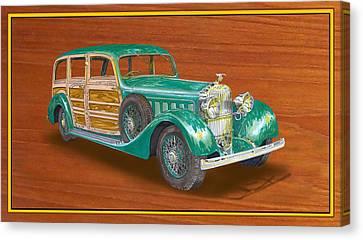 1934 Hispanosuzia Shooting Brake Canvas Print by Jack Pumphrey