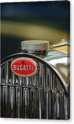 1935 Bugatti Type 57 Grand Raid Roadster Emblem Canvas Print by Jill Reger