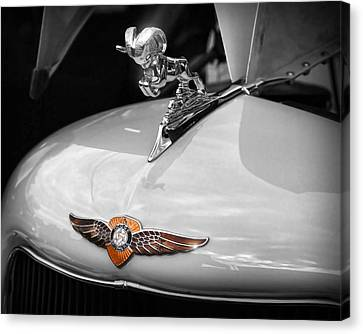 1935 Dodge Brothers Pickup - Ram Hood Ornament Canvas Print by Gordon Dean II