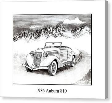 1936 Auburn 810 Canvas Print by Jack Pumphrey