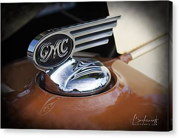 1936 Gmc Pickup Truck Hood Ornament Canvas Print by Robin Lewis