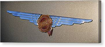 1937 Chrysler Airflow Emblem Canvas Print by Gordon Dean II