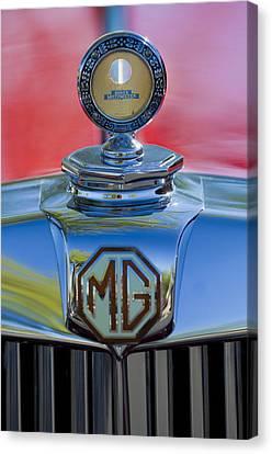 1938 Mg Ta Hood Ornament 2 Canvas Print by Jill Reger