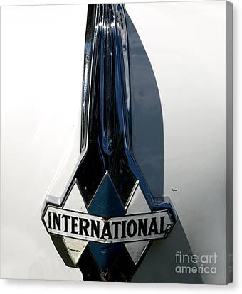 1939 International Hood Ornament  Canvas Print by Steven Digman