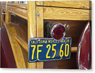 1939 Pontiac Silver Streak Deluxe Station Wagon Taillight Canvas Print by Jill Reger