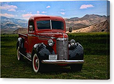 1940 Chevrolet Pickup Truck Canvas Print