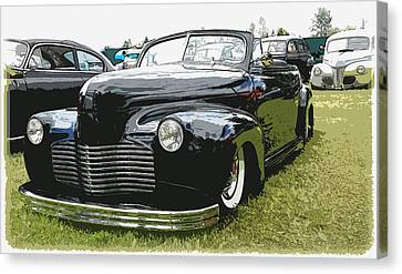 1940 Chevy Convertable Canvas Print by Steve McKinzie