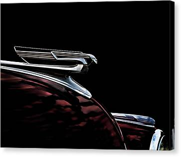 1940 Chevy Hood Ornament Canvas Print by Douglas Pittman