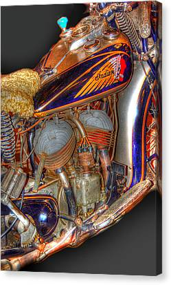 1940 Indian Scout Police Unit Version 1 Canvas Print by Ken Smith