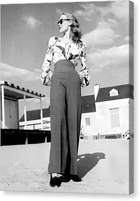1940s Fashion A Peasant Top Canvas Print by Everett