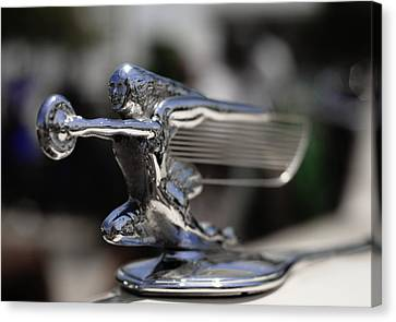 1940's Packard Hood Ornament Canvas Print by Julie VanDore