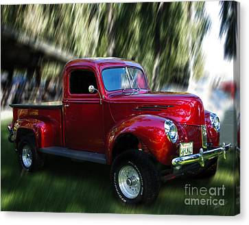 1941 Ford Truck Canvas Print by Peter Piatt