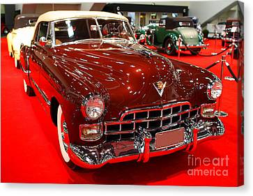1947 Red Cadillac Convertible . 7d9220 Canvas Print by Wingsdomain Art and Photography