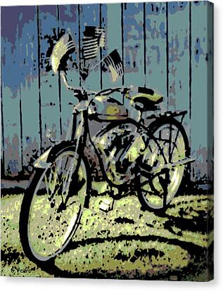 1947 Whizzer Canvas Print by George Pedro