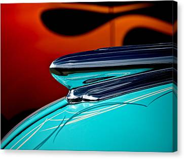 1948 Chevy Hood Ornament Canvas Print