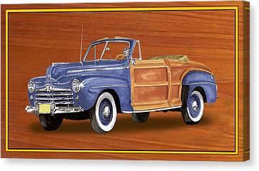 1948 Ford Sportsman Convert. Canvas Print by Jack Pumphrey