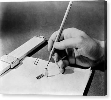 1949 Still Life Of Progress. The Slide Canvas Print