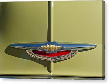 1950 Chevrolet Fleetline Emblem Canvas Print by Jill Reger