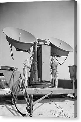 1950 Doppler Radar Antenna Has Metallic Canvas Print