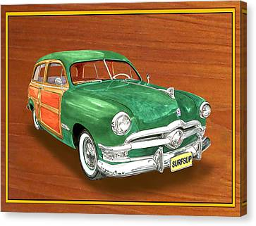 1950 Ford Country Squire Woody Canvas Print by Jack Pumphrey