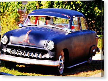 Canvas Print featuring the photograph 1950 Ford  Vintage by Peggy Franz