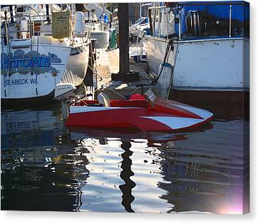 Canvas Print featuring the photograph 1950's Custom Hydroplane by Kym Backland