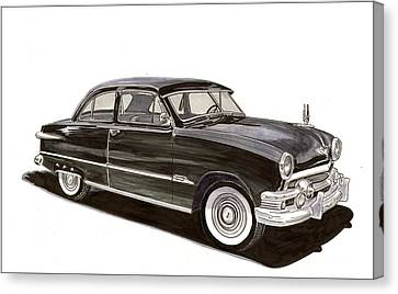 1951 Ford 2 Dr Sedan Canvas Print by Jack Pumphrey