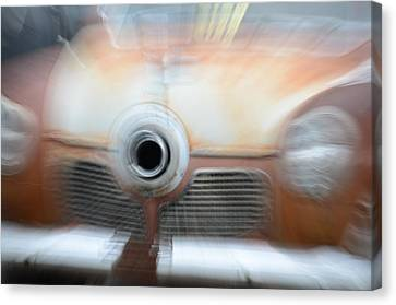 1951 Studebaker Abstract Canvas Print by Randy J Heath